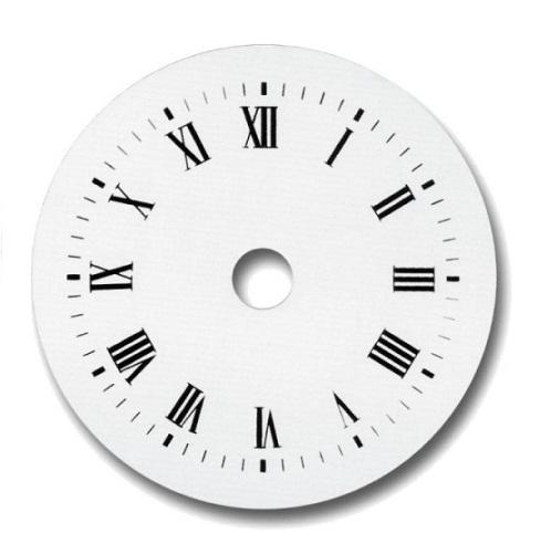 Esfera de reloj blanca 100 mm manualidades trasgu - Mecanismo para reloj de pared ...