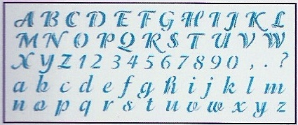 Plantilla Letras Y Numeros 13 3x33 Cm Manualidades Trasgu