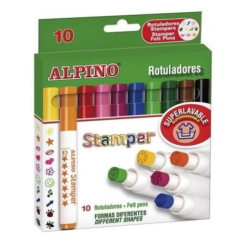 Caja 10 rotuladores stampers Alpino