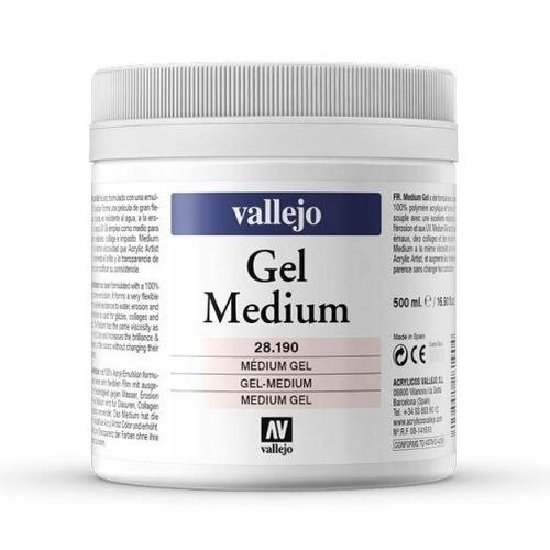 Gel medium pasta relieve Vallejo 28190
