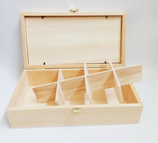 Caja con tapa de cristal para infusiones manualidades trasgu for Caja madera con tapa