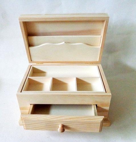 Caja joyero con 1 cajon manualidades trasgu - Hacer una caja de madera ...
