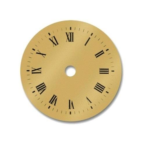 Esfera de reloj dorada 80 mm manualidades trasgu - Mecanismo para reloj de pared ...