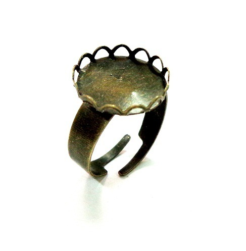 Anillo ajustable  bronce 15 mm