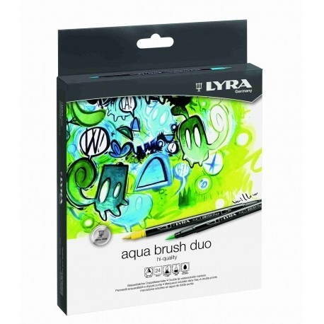 Caja de 24 rotuladores Lyra Aqua Brush Duo