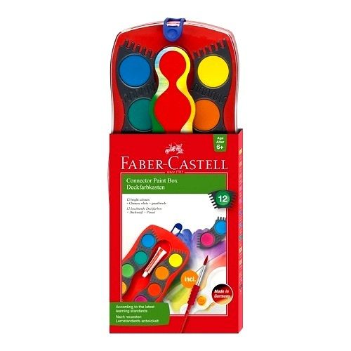 Acuarela Connector Faber Castell 12 colores