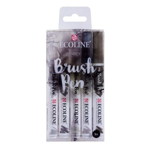 Ecoline Brush Pen Set 5 colores Grey