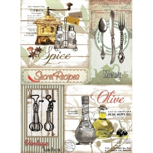"Papel de arroz Cadence ""Secret Recipes"""