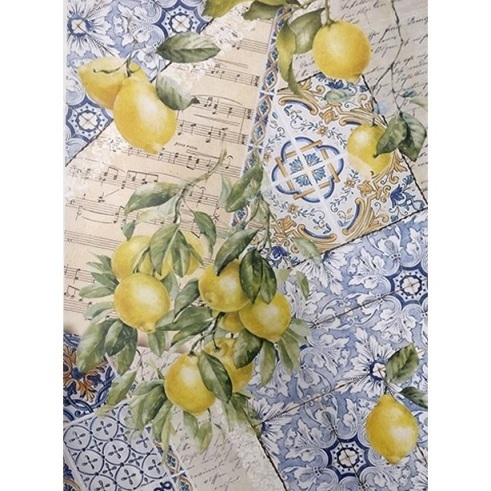 "Papel arroz Cadence ""Collage Limones"""