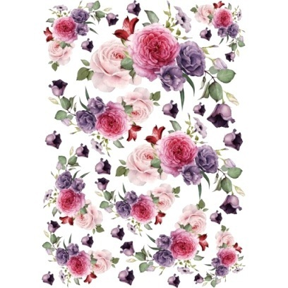 "Papel arroz Cadence 629 ""Bouquet Rosas"""