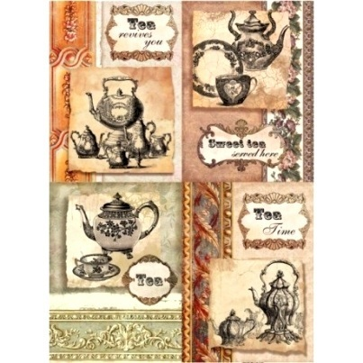 "Papel arroz Cadence 374 ""Tea Time"""