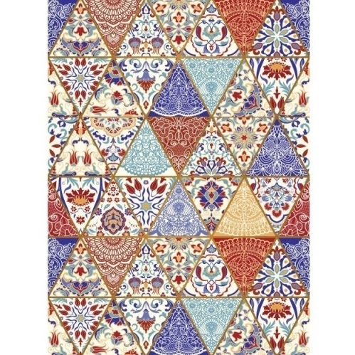 "Papel arroz Cadence 707 ""Triangulos"""
